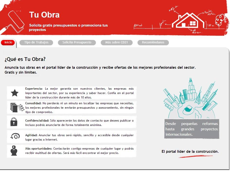 Construdata21 lanza tu-obra.com