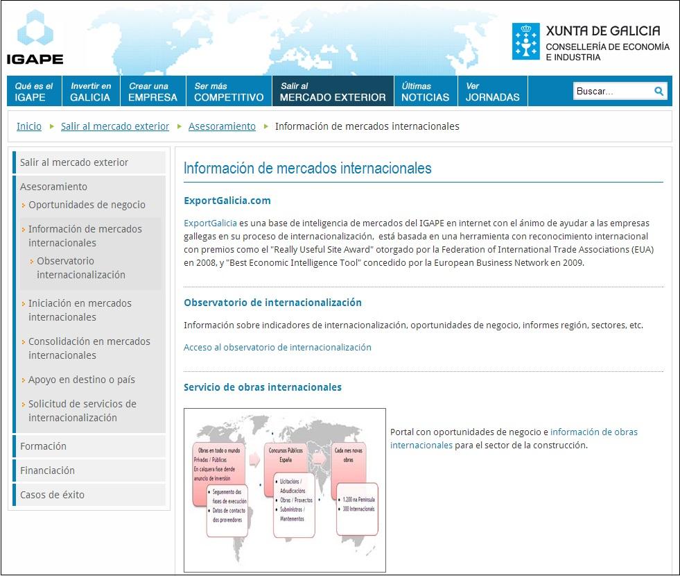 Construdata21 e IGAPE facilitan información a las empresas gallegas sobre obras en todo el mundo