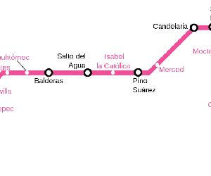 https://upload.wikimedia.org/wikipedia/commons/thumb/3/37/Mexico_City_Metro_line_1.svg/1200px-Mexico_City_Metro_line_1.svg.png